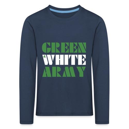GREEN & WHITE ARMY - Kids' Premium Longsleeve Shirt