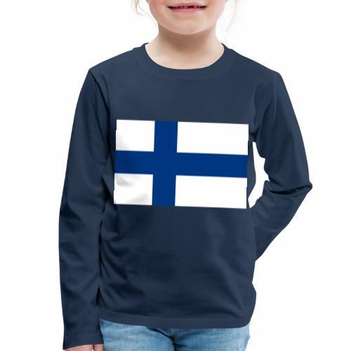 Suomenlippu - tuoteperhe - Lasten premium pitkähihainen t-paita