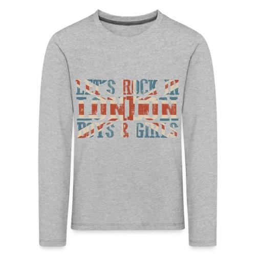LET'S ROCK IN LONDON - Maglietta Premium a manica lunga per bambini
