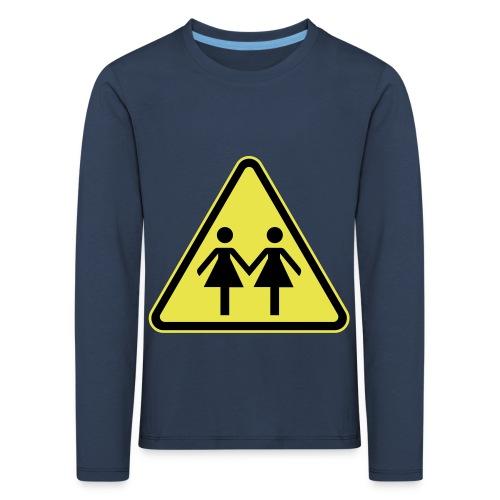 ACHTUNG LESBEN POWER! Motiv für lesbische Frauen - Kinder Premium Langarmshirt