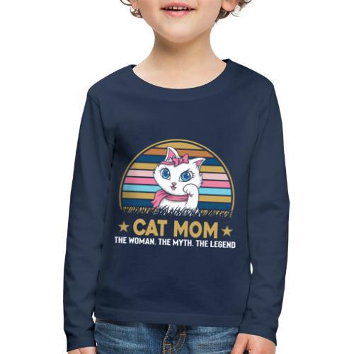 CAT MOM - T-shirt manches longues Premium Enfant