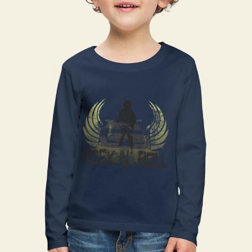 rock n roll camaro - Børne premium T-shirt med lange ærmer