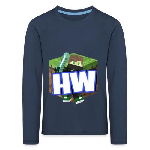 HouseWorld Minecraft Server - Kinder Premium Langarmshirt