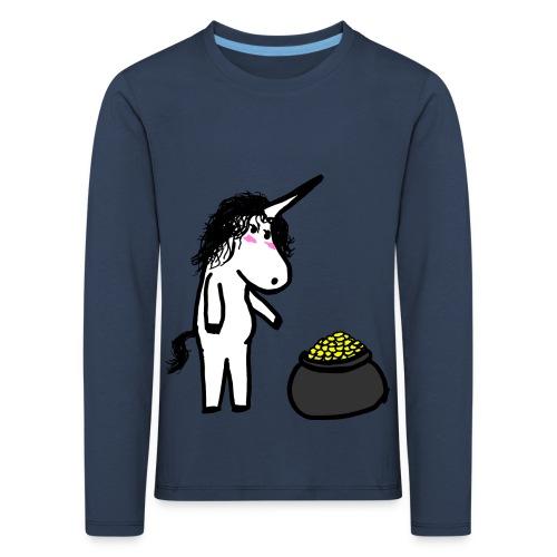 Oro unicorno - Maglietta Premium a manica lunga per bambini