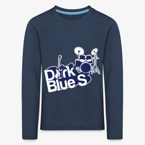 DarkBlueS outline gif - Kids' Premium Longsleeve Shirt