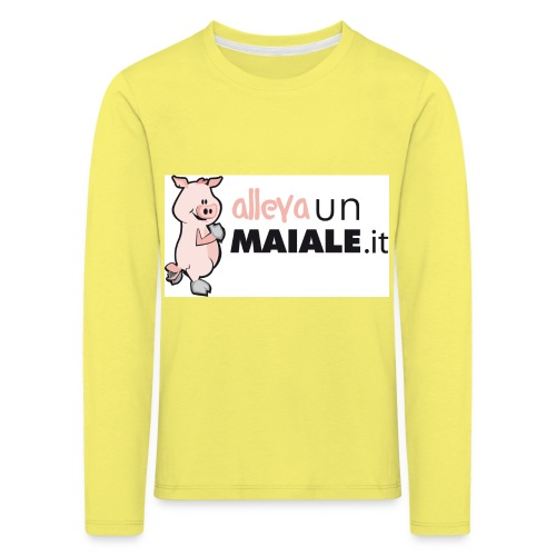 Allevaunmiale.it - Maglietta Premium a manica lunga per bambini