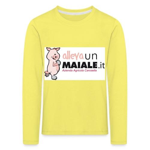 Allevaunmaiale.it con Azienda - Maglietta Premium a manica lunga per bambini
