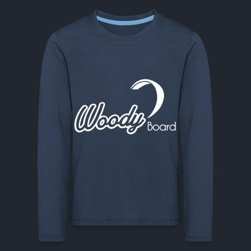 Logo Woodyboard Blanc - T-shirt manches longues Premium Enfant