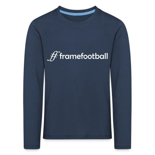 Hashtag Frame Football - Kids' Premium Longsleeve Shirt