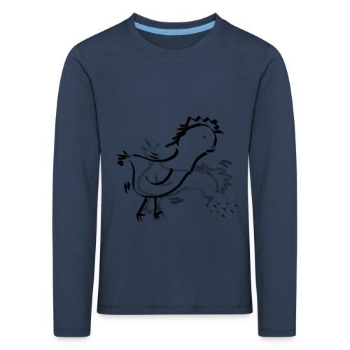 Das pickende Huhn - Kinder Premium Langarmshirt