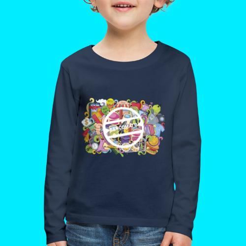 maglia logo doodle - Maglietta Premium a manica lunga per bambini