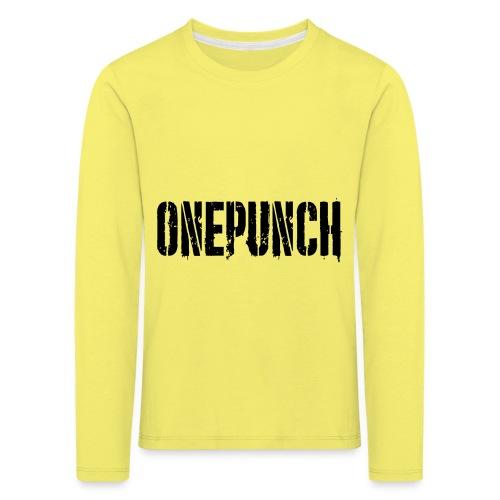 Boxing Boxing Martial Arts mma tshirt one punch - Kids' Premium Longsleeve Shirt