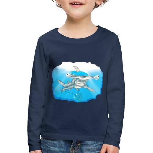 Hunting hammer fish design print - Kids' Premium Longsleeve Shirt