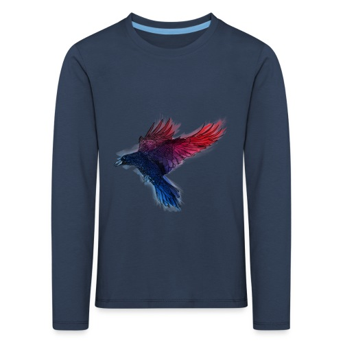 Watercolor Raven - Kinder Premium Langarmshirt