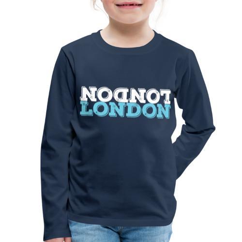 London Souvenir - Upside Down London - Kinder Premium Langarmshirt