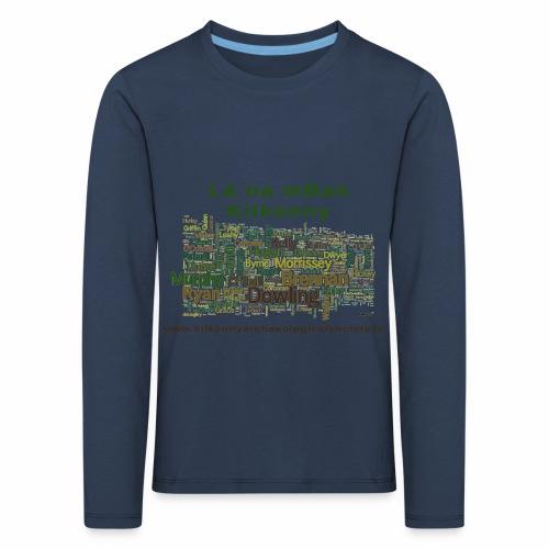 Lá na mban Kilkenny Wordle - Kids' Premium Longsleeve Shirt