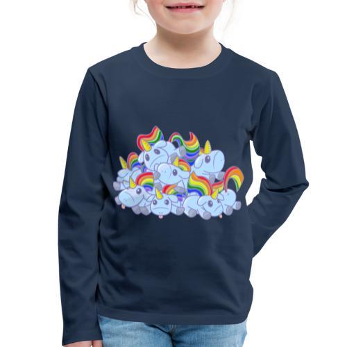 Moar unicorns! - Maglietta Premium a manica lunga per bambini