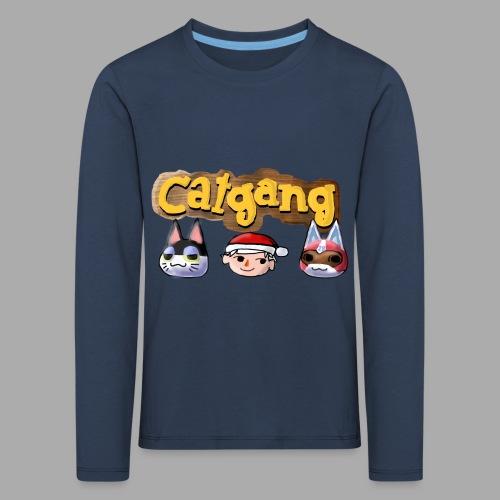 Animal Crossing CatGang - Kinder Premium Langarmshirt