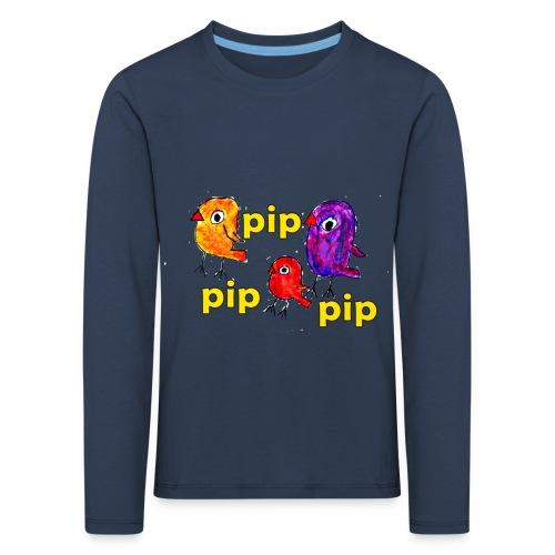 3er original pip pip pip gelb - Kinder Premium Langarmshirt