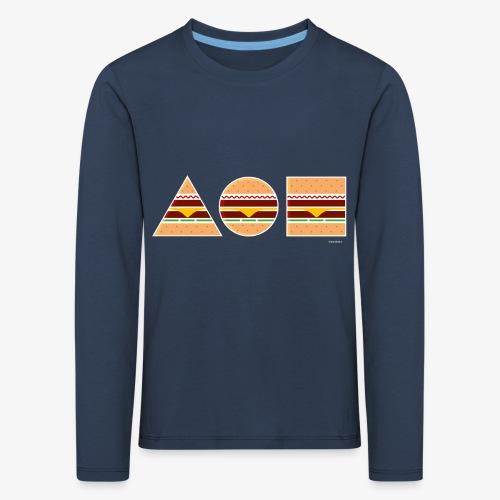 Graphic Burgers - Maglietta Premium a manica lunga per bambini