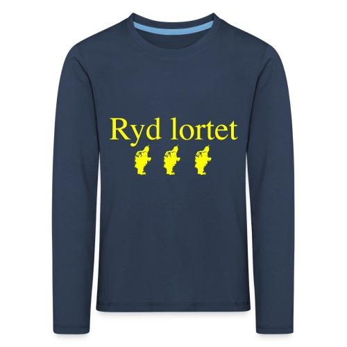 Ryd lortet - Børnekollektion - Børne premium T-shirt med lange ærmer