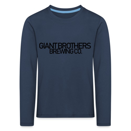 Giant Brothers Brewing co SVART - Långärmad premium-T-shirt barn