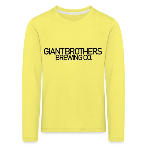 Giant Brothers Brewing co SVART - Långärmad premium-T-shirt barn