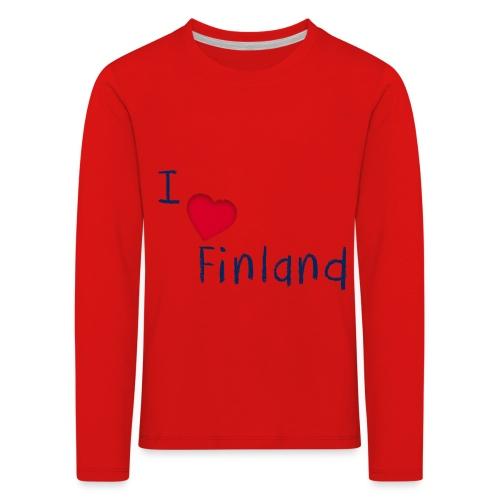 I Love Finland - Lasten premium pitkähihainen t-paita