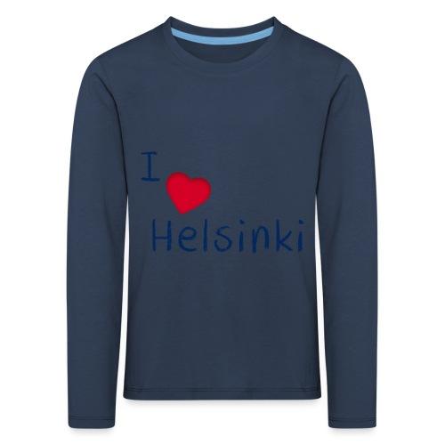 I Love Helsinki - Lasten premium pitkähihainen t-paita