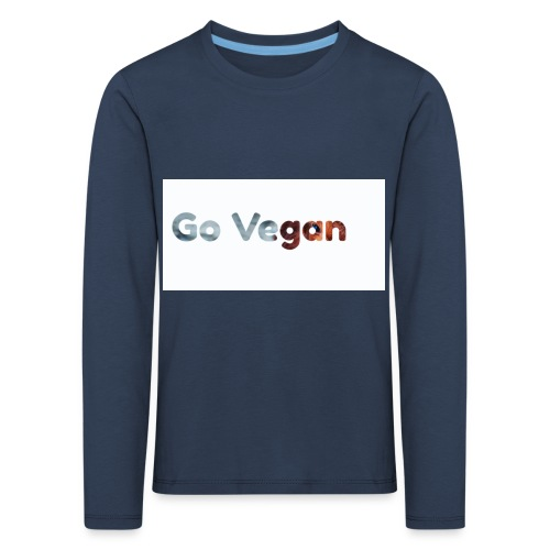 Go Vegan - motif Animal - T-shirt manches longues Premium Enfant