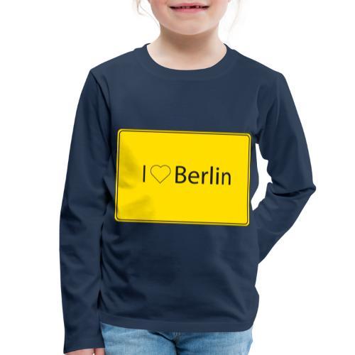 I love Berlin - Kinder Premium Langarmshirt