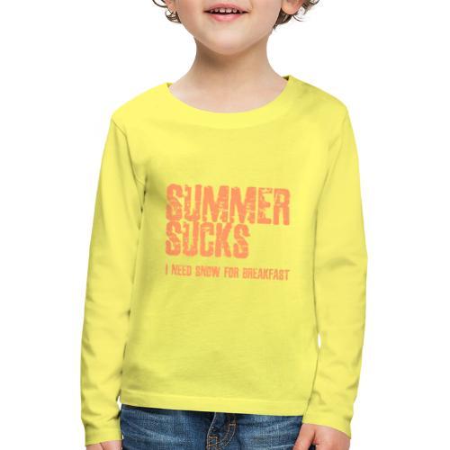 SUMMER SUCKS - Kinderen Premium shirt met lange mouwen