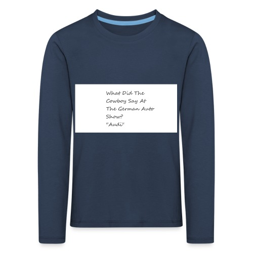 Car Joke - Kids' Premium Longsleeve Shirt