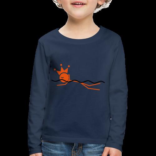 Zwemkoning - Kinderen Premium shirt met lange mouwen