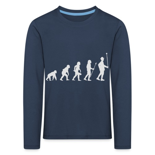 Evolution Stabführer weiß - Kinder Premium Langarmshirt