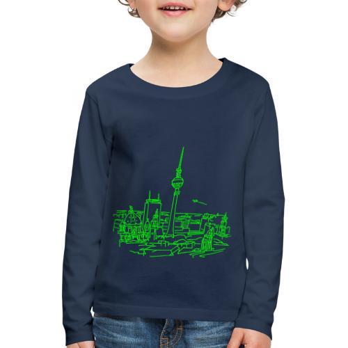 Berlin Panorama - Koszulka dziecięca Premium z długim rękawem