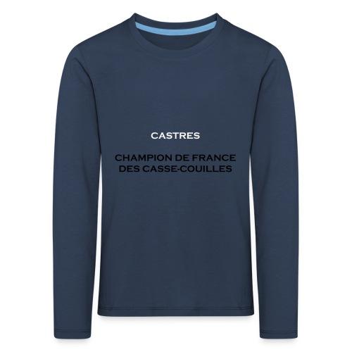 design castres - T-shirt manches longues Premium Enfant