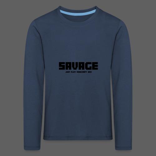 SAVAGE GAMER T-Shirt (kinderen) - Kinderen Premium shirt met lange mouwen