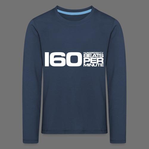 160 BPM (hvid lang) - Børne premium T-shirt med lange ærmer