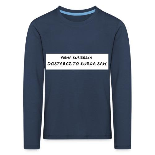 firma kurierska tyl - Koszulka dziecięca Premium z długim rękawem