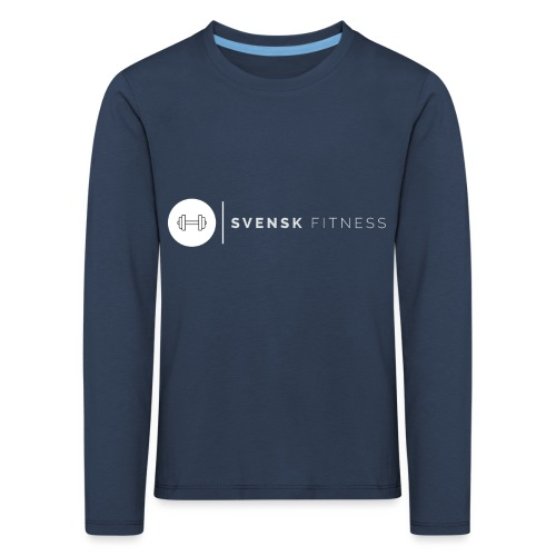 Vit vertikal logo dam - Långärmad premium-T-shirt barn