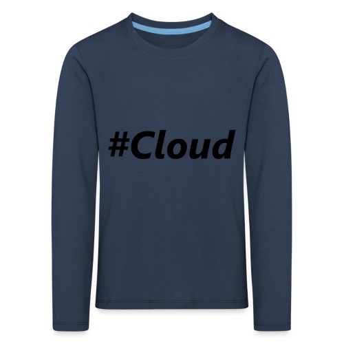 #Cloud black - Kinder Premium Langarmshirt