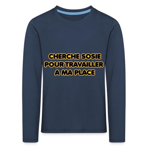 cherche_sosie2 - T-shirt manches longues Premium Enfant
