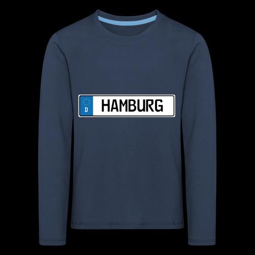 Kennzeichen Hamburg - Kinder Premium Langarmshirt