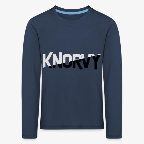 KNORVY - Kinderen Premium shirt met lange mouwen