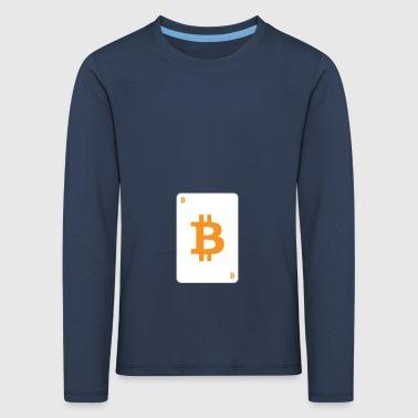 Bitcoin Spielkarte - Kinder Premium Langarmshirt