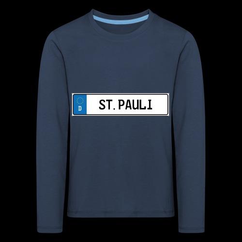 Kennzeichen St.Pauli - Kinder Premium Langarmshirt