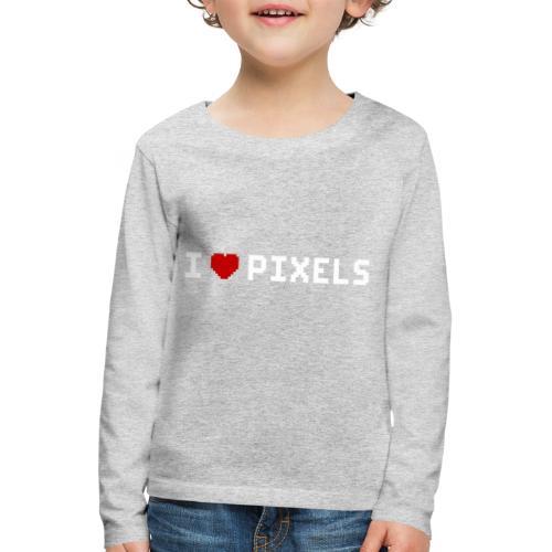 I Love Pixels - Børne premium T-shirt med lange ærmer