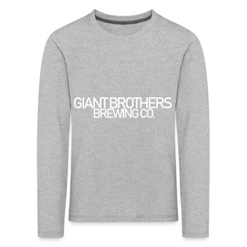 Giant Brothers Brewing co white - Långärmad premium-T-shirt barn