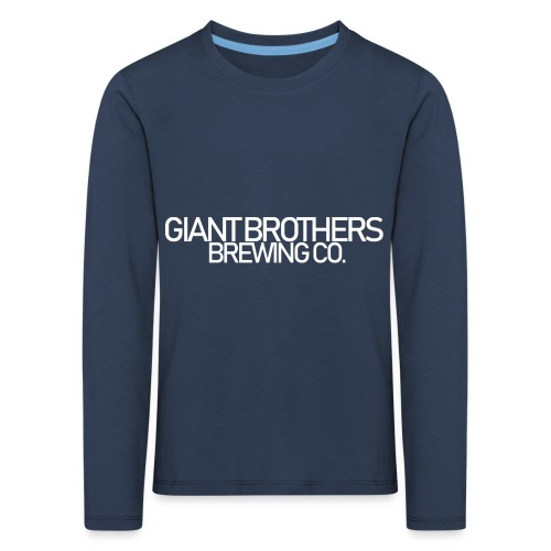 Giant Brothers Brewing co white - Långärmad premium-T-shirt barn